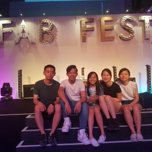 The winning team (from left): Howard Wang, Jacky Lam, Rosy Tam, Kimberley Lau, and Zoe So