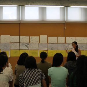 Jessica Cheung, architect and CUHK alumna, teaching as Studio Instructor at AEP 2017