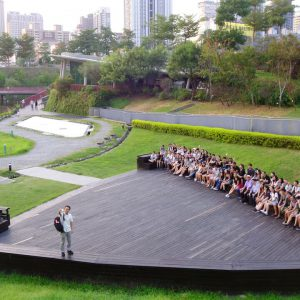 CUHK students at the Maple Garden, Taichung