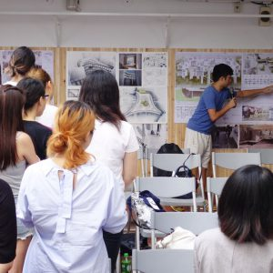 CUHK students presenting their first design exercises at THU