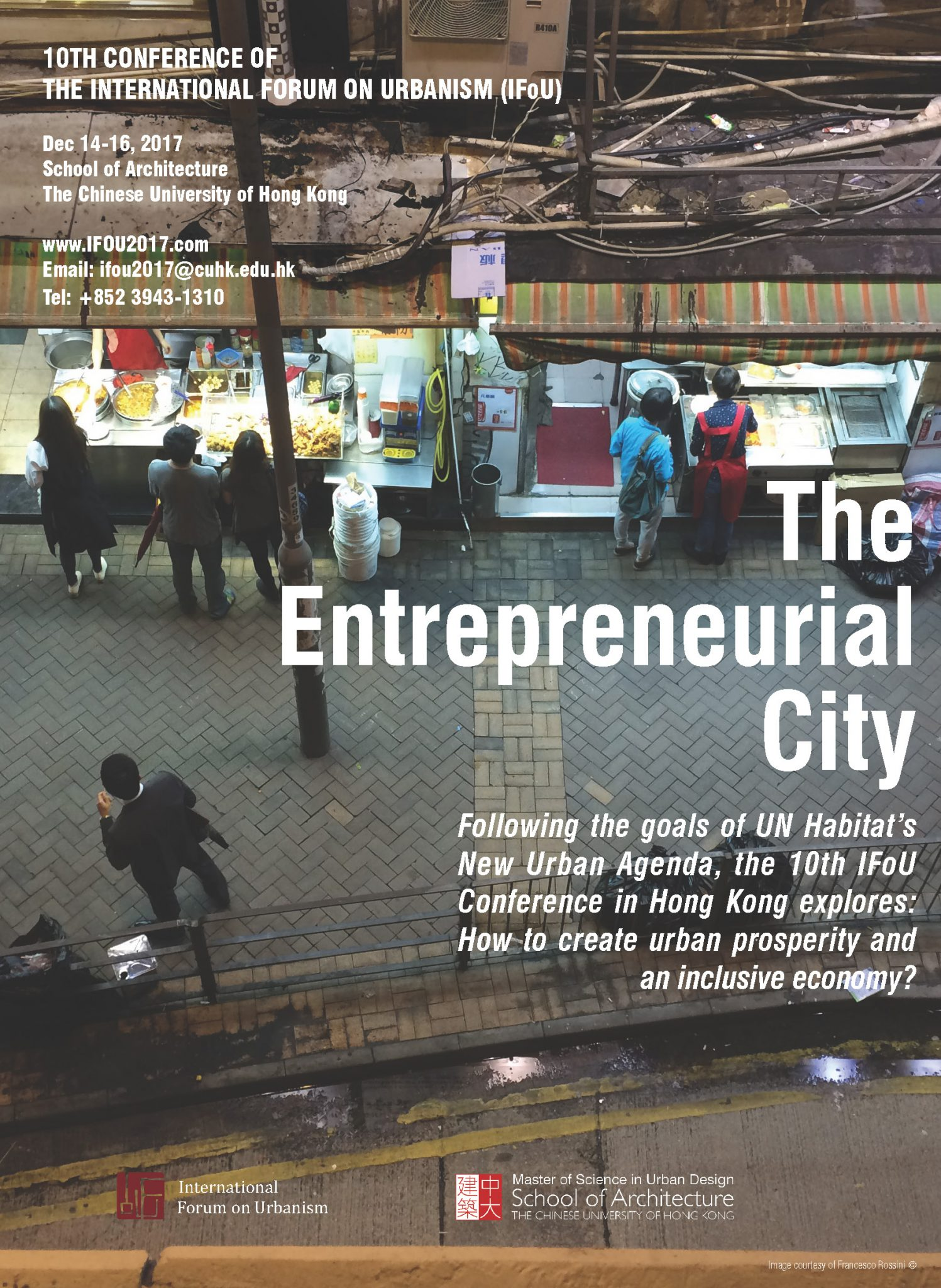 10th IFoU Conference – The Entrepreneurial City