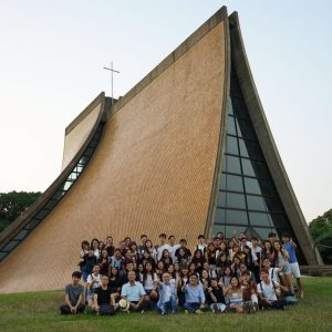 CUHK students at the Luce Chapel, Tunghai University, Taichung