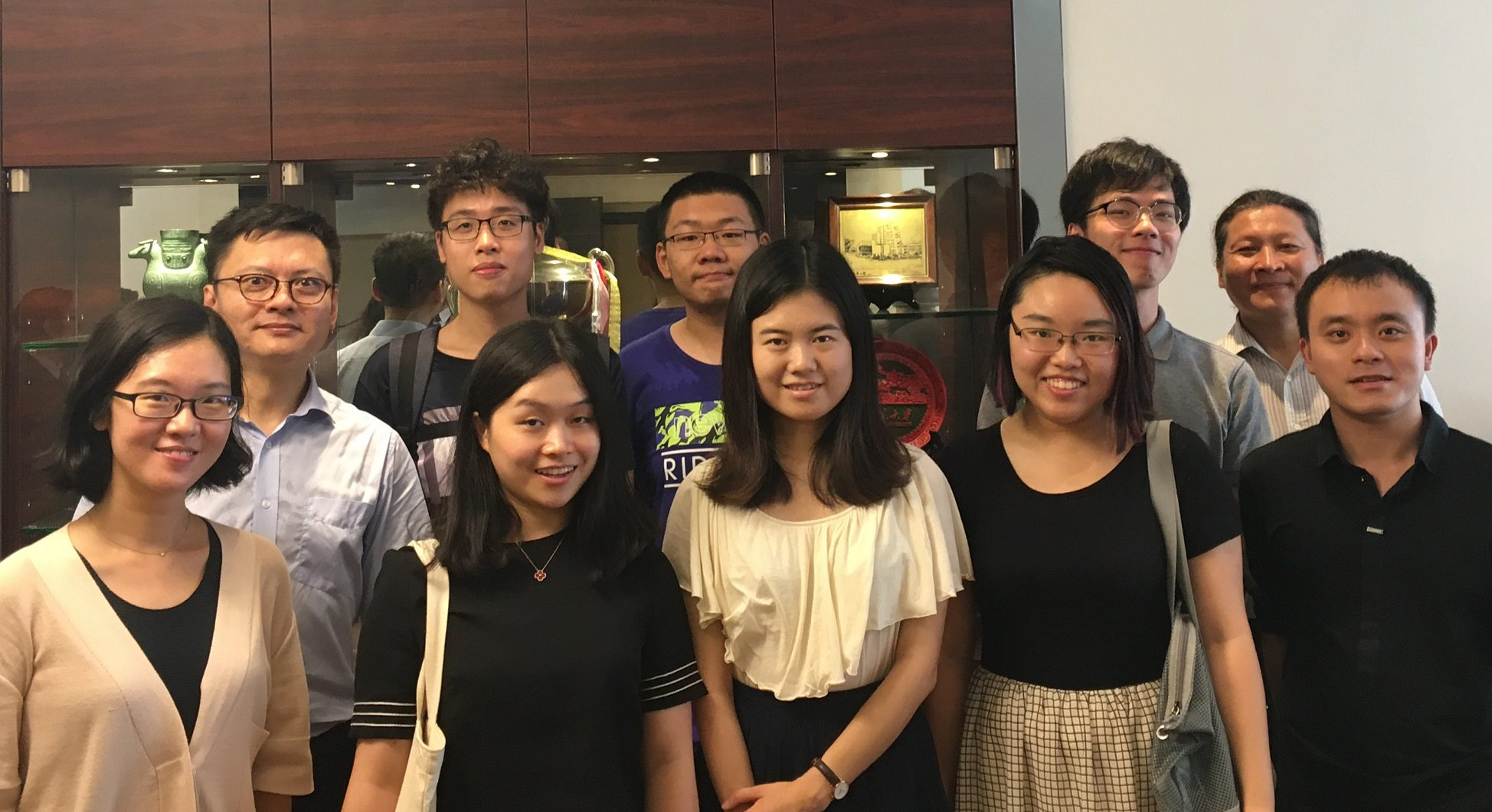 Prof. Stan Fung (second from the left) and incoming Research Postgraduate Students 2017-18