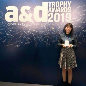 Jessie Wong (MArch Year 2) at A&D Trophy Awards 2019