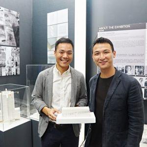 2015 MArch graduates Sam Wong (left) and Marco Wong, designers of the Times Square Living Room Museum.