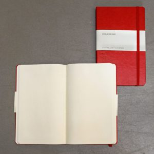 Red cover x Plain paper