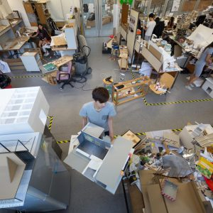Students working at the Design Studio
