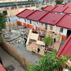 Constructing the Playhouse in rural Manila by Francesco Rossini and his students