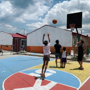 Basketball Court in rural Manila by Francesco Rossini and his students