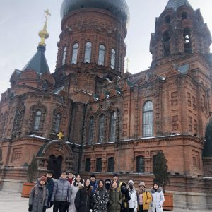 Prof. Zhu and his students at Saint Sophia Cathedral